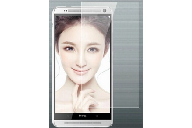 Фирменная оригинальная защитная пленка для телефона HTC One Max T6 (803s) глянцевая