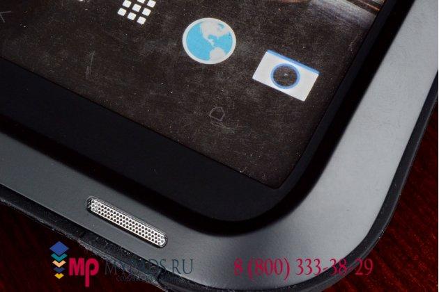 Неубиваемый водостойкий противоударный водонепроницаемый грязестойкий влагозащитный ударопрочный фирменный чехол-бампер для HTC One Max T6 (803s) цельно-металлический со стеклом Gorilla Glass