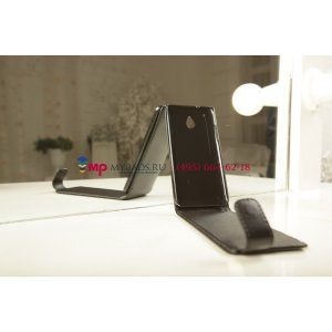 Чехол-книжка для HTC One Mini черный кожаный
