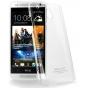 Фирменная ультра-тонкая пластиковая задняя панель-чехол-накладка для HTC One Mini прозрачная..