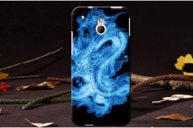 """Фирменная необычная уникальная пластиковая задняя панель-чехол-накладка для HTC One Mini""""тематика Дракон"""""""