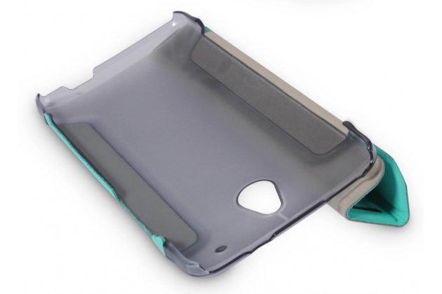 Фирменный умный тонкий чехол Smart-case/Smart-cover c функцией засыпания для HTC One Mini черный пластиковый