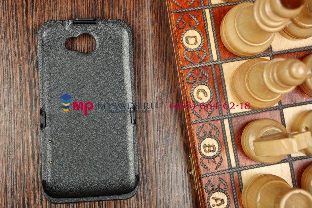 Чехол-бампер со встроенной усиленной мощной батарей-аккумулятором большой повышенной расширенной ёмкости 3500mAh для HTC One X S720E черный + гарантия