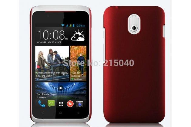 Фирменная задняя панель-крышка из тончайшего и прочного пластика для HTC Desire 210 красная