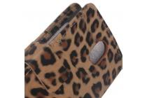 Чехол-защитный кожух для HTC Desire 210 леопардовый коричневый