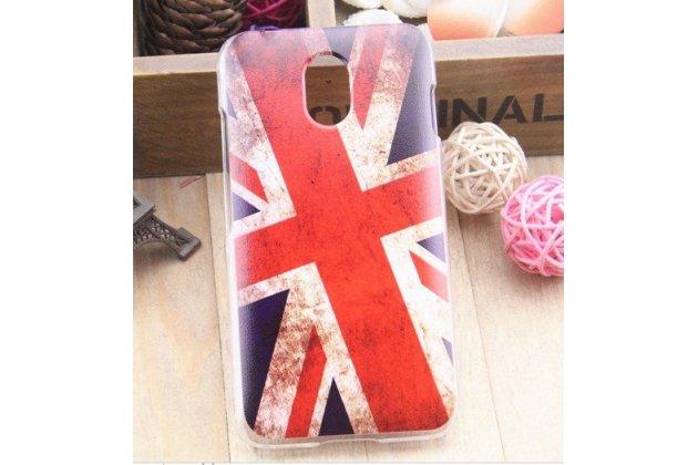 """Фирменная необычная уникальная пластиковая задняя панель-чехол-накладка для HTC Desire 210 """"тематика Британский флаг"""""""