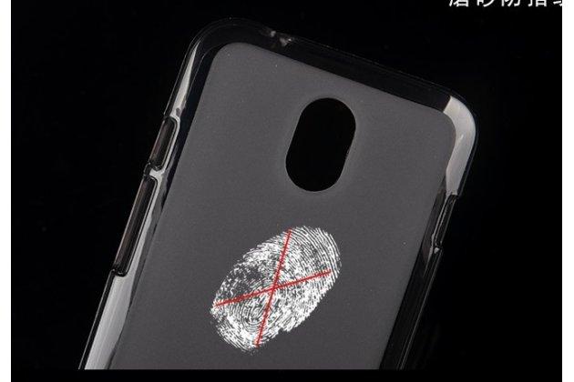 Фирменная ультра-тонкая полимерная из мягкого качественного силикона задняя панель-чехол-накладка для HTC Desire 210 черная