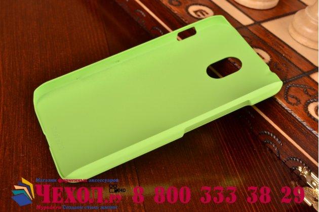 """Фирменная задняя панель-крышка-накладка из тончайшего и прочного пластика для HTC Desire 210 4.0"""" зеленая"""