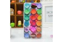 """Фирменная необычная уникальная пластиковая задняя панель-чехол-накладка для HTC Desire 516 """"тематика краски"""""""