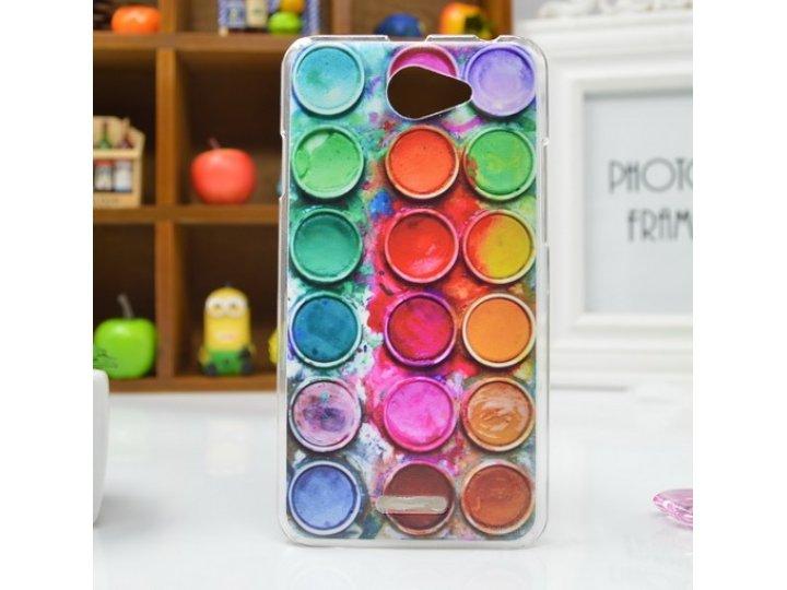 Фирменная необычная уникальная пластиковая задняя панель-чехол-накладка для HTC Desire 516
