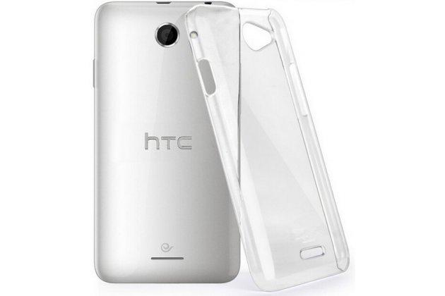 Фирменная ультра-тонкая полимерная из мягкого качественного силикона задняя панель-чехол-накладка для HTC Desire 516 прозрачная