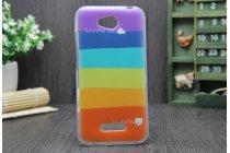 """Фирменная необычная уникальная из легчайшего и тончайшего пластика задняя панель-чехол-накладка для HTC Desire 616 Dual sim """"тематика Все цвета Радуги"""""""