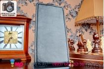 """Фирменный оригинальный вертикальный откидной чехол-флип для HTC Desire 616 Dual sim черный кожаный """"Prestige"""" Италия"""