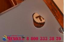 Фирменная ультра-тонкая полимерная из мягкого качественного силикона задняя панель-чехол-накладка на HTC Desire 616 Dual sim серая