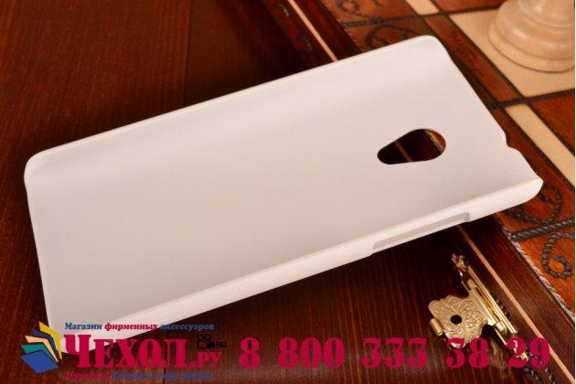 Фирменная задняя панель-крышка-накладка из тончайшего и прочного пластика для HTC Desire 700 Dual Sim белая