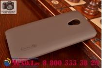 Фирменная задняя панель-крышка-накладка из тончайшего и прочного пластика для HTC Desire 700 Dual Sim коричневая