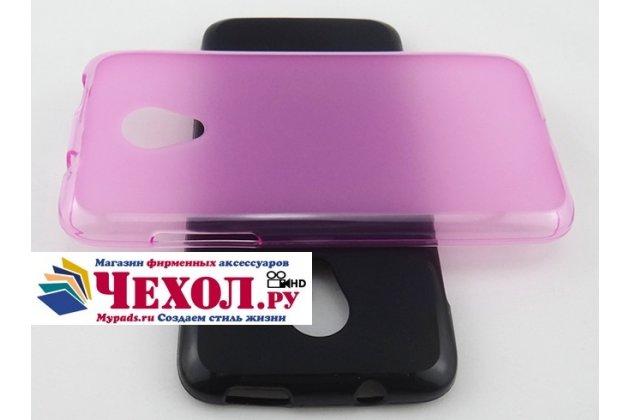 Фирменная ультра-тонкая полимерная из мягкого качественного силикона задняя панель-чехол-накладка для HTC Desire 700 Dual Sim розовая