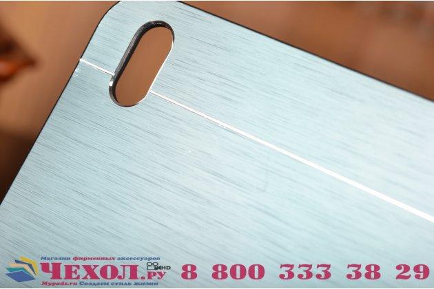 Фирменная металлическая задняя панель-крышка-накладка из тончайшего облегченного авиационного алюминия для HTC Desire 816 Dual Sim серая