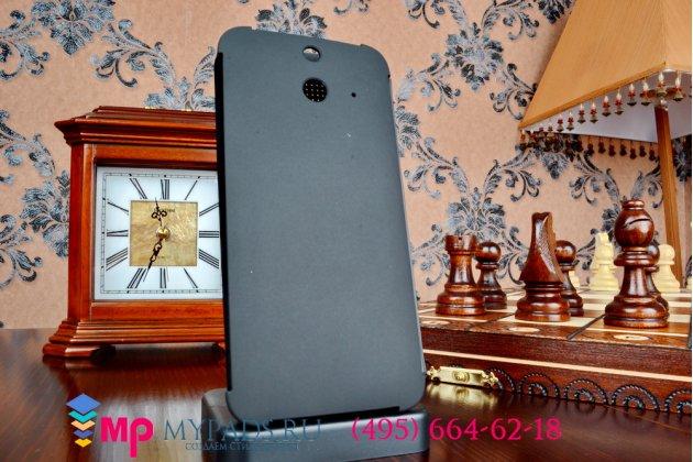 Фирменный оригинальный умный чехол Dot View flip case для HTC One E8 черный