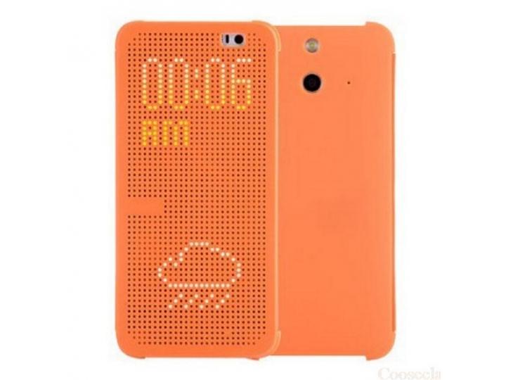 Чехол с мультяшной 2D графикой и функцией засыпания для HTC One E8 в точечку с дырочками прорезиненный с перфо..