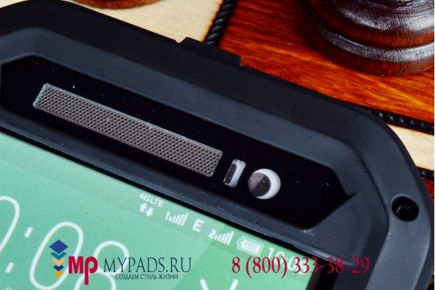 Неубиваемый водостойкий противоударный водонепроницаемый грязестойкий влагозащитный ударопрочный фирменный чехол-бампер для HTC One E8 цельно-металлический со стеклом Gorilla Glass