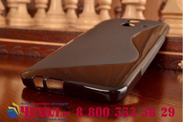 Фирменная ультра-тонкая полимерная из мягкого качественного силикона задняя панель-чехол-накладка для HTC One E8 черная