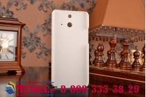Фирменная задняя панель-крышка-накладка из тончайшего и прочного пластика для HTC One E8 белая
