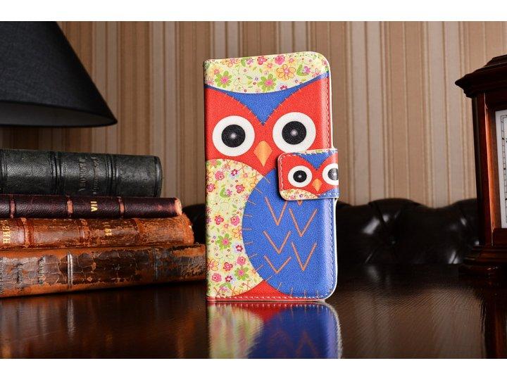 Фирменный уникальный необычный чехол-книжка для HTC One mini 2