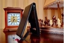 Фирменный вертикальный откидной чехол-флип для HTC One mini 2 черный кожаный