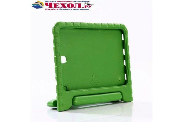 Противоударный усиленный ударопрочный фирменный чехол-бампер-пенал для Samsung Galaxy Tab S3 9.7 SM-T820/T825 зелёный