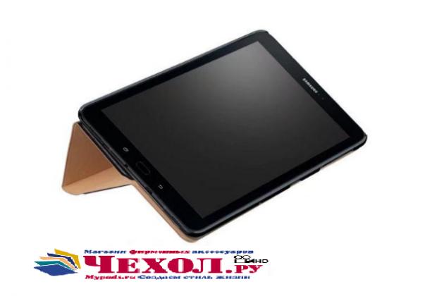 Фирменный чехол-обложка с подставкой для Samsung Galaxy Tab S3 9.7 SM-T820/T825 голубой пластиковый