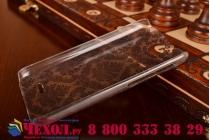 Фирменная роскошная задняя панель-чехол-накладка с расписным узором для HTC Desire 300 прозрачная черная