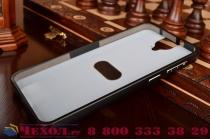 Фирменная металлическая задняя панель-крышка-накладка из тончайшего облегченного авиационного алюминия для HTC One E9 Plus черная