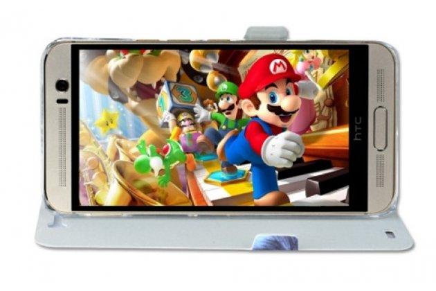 """Фирменный уникальный необычный чехол-книжка для HTC One E9 Plus/E9+ plus dual sim  """"тематика все цвета радуги"""""""