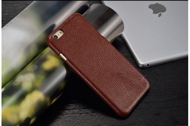 Фирменная элегантная экзотическая задняя панель-крышка с фактурной отделкой натуральной кожи кофейного цвета для HTC One E9 Plus/E9+ plus dual sim . Только в нашем магазине. Количество ограничено.