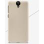 Фирменная задняя панель-крышка-накладка из тончайшего и прочного пластика для HTC One E9 Plus  золотая..