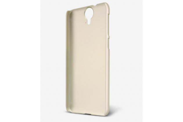 Фирменная задняя панель-крышка-накладка из тончайшего и прочного пластика для HTC One E9 Plus  золотая