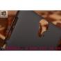 Фирменная задняя панель-крышка-накладка из тончайшего и прочного пластика для HTC One E9 Plus черная..