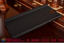 Фирменная задняя панель-крышка-накладка из тончайшего и прочного пластика для HTC One E9 Plus черная