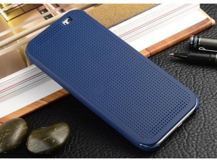 Мультяшный чехол с прогнозом погоды для HTC One E9 Plus/E9+ plus dual sim синий в точечку с дырочками прорезин..