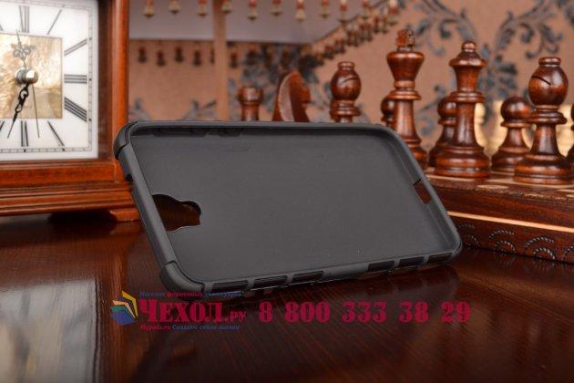 Противоударный усиленный ударопрочный фирменный чехол-бампер-пенал для HTC One E9 Plus черный