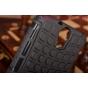 Противоударный усиленный ударопрочный фирменный чехол-бампер-пенал для HTC One E9 Plus черный..