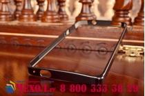 Фирменный оригинальный ультра-тонкий чехол-бампер для HTC One M7 Dual Sim (801s) черный металлический