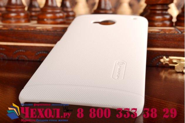Фирменная задняя панель-крышка-накладка из тончайшего и прочного пластика для HTC One M7 Dual Sim (801s) белая