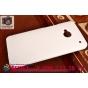 Фирменная задняя панель-крышка-накладка из тончайшего и прочного пластика для HTC One M7 Dual Sim (801s) белая..