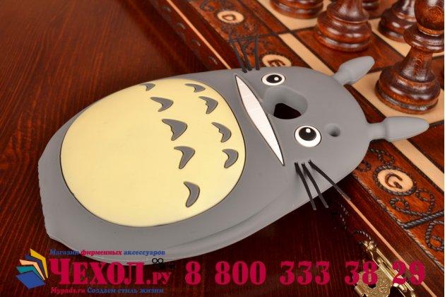 "Фирменная необычная мягкая задняя панель-чехол-накладка для HTC One M7 Dual Sim (801s) ""тематика толстая весёлая мышь"""