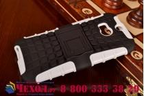 Противоударный усиленный ударопрочный фирменный чехол-бампер-пенал для HTC One M8/M8s/(M8) EYE белый