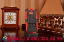 Противоударный усиленный ударопрочный фирменный чехол-бампер-пенал для HTC One M8/M8s/(M8) EYE красный