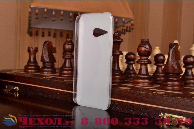 """Фирменная необычная из легчайшего и тончайшего пластика задняя панель-чехол-накладка для HTC One M8  """"тематика Алый Цветок"""""""