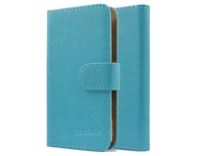 Фирменный чехол-книжка из качественной импортной кожи с подставкой застёжкой и визитницей для Highscreen Easy ..